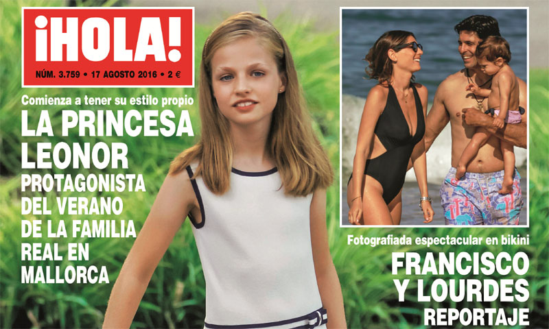 En ¡HOLA!: La princesa Leonor comienza a tener su propio estilo