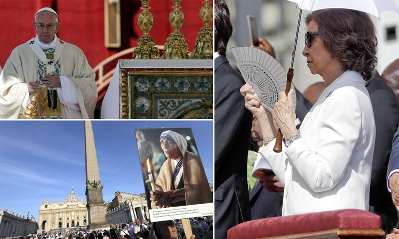 La reina Sofía acude a la canonización de la Madre Teresa de Calcuta