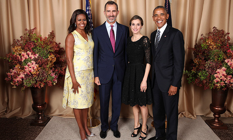 El último encuentro de los reyes Felipe y Letizia con los Obama