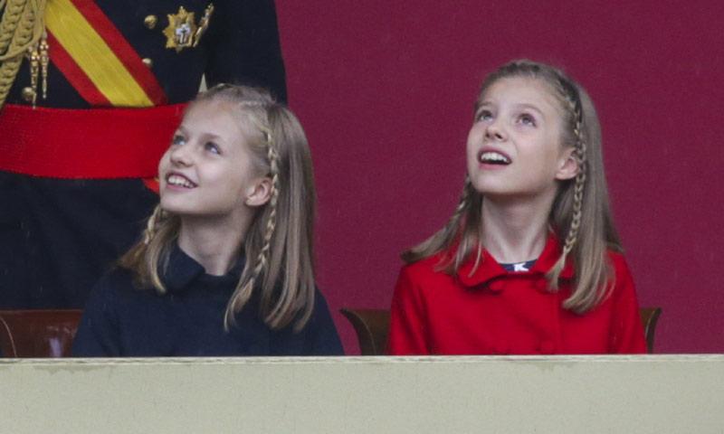 El desfile desde los ojos de la princesa Leonor y la infanta Sofía