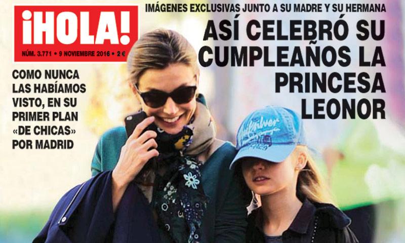 ¡HOLA! descubre cómo celebró su cumpleaños la princesa Leonor