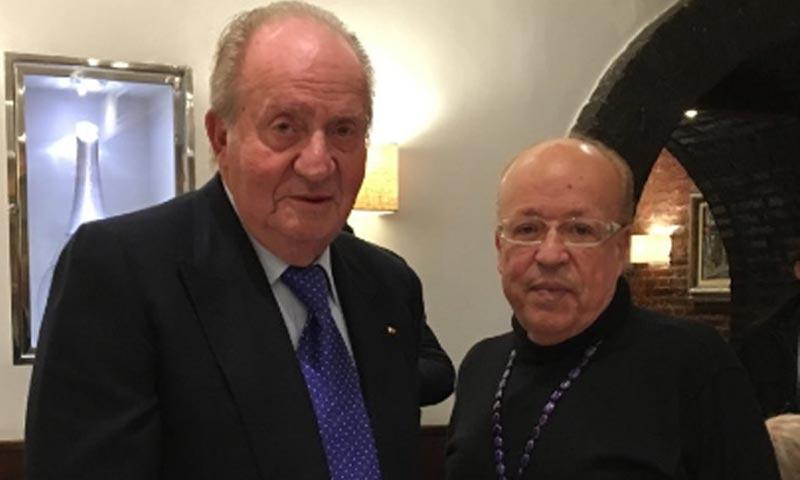 El curioso encuentro del rey Juan Carlos y Rappel