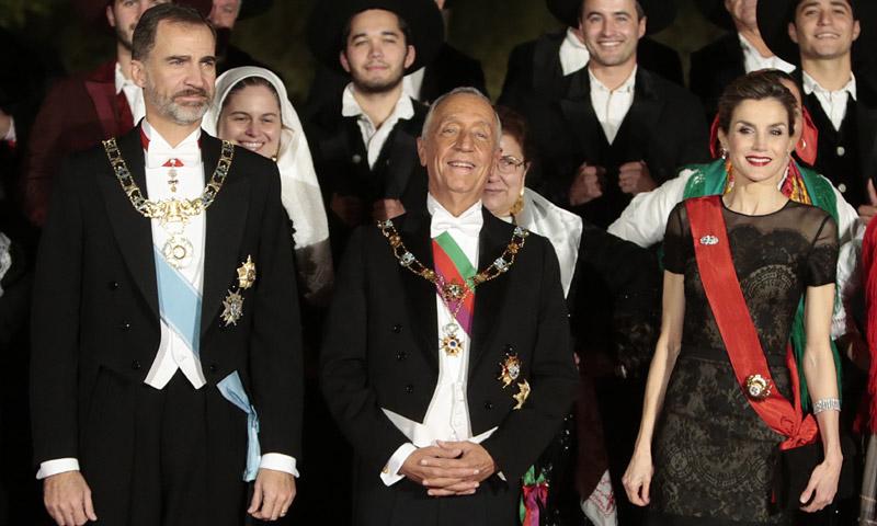 Cena de gala en Portugal en honor a don Felipe y doña Letizia