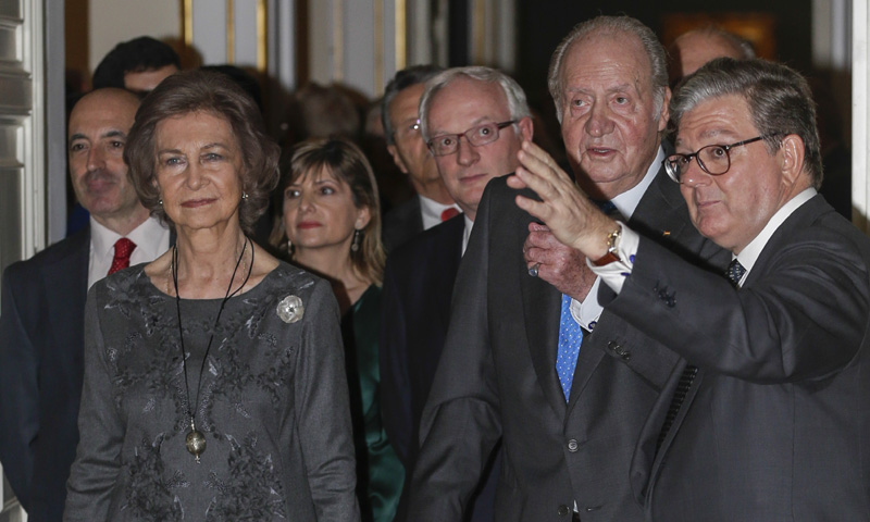 Los reyes Juan Carlos y Sofía retoman su agenda conjunta seis meses después de su última aparición oficial