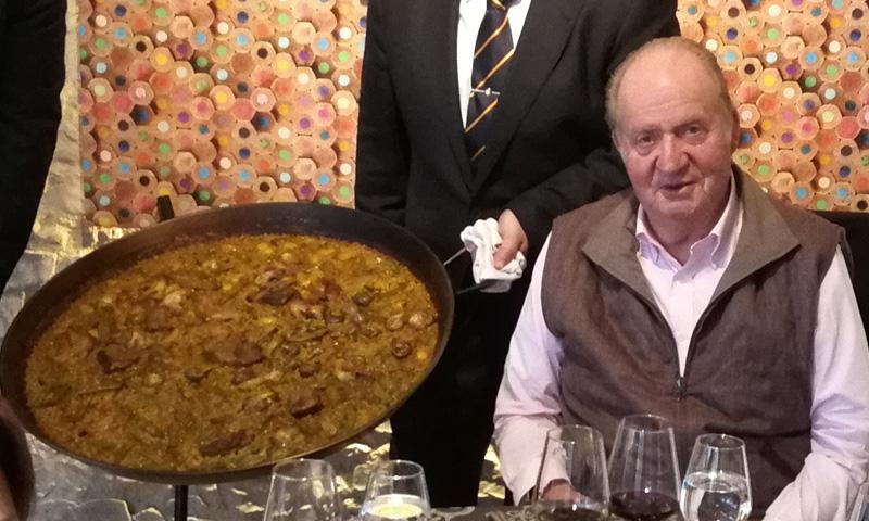La paella 'madrileña' de don Juan Carlos y la infanta Margarita