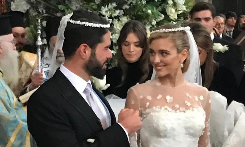 Doña Sofía, en la gran boda griega de los multimillonarios Filipos Lemós y Mariana Goulandrís