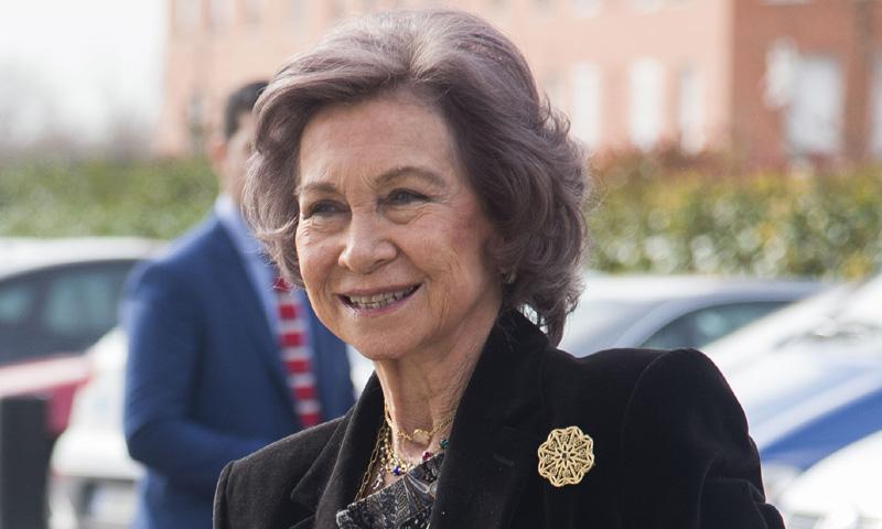 Doña Sofía cumple con su agenda a la espera de conocer el futuro de su hija y su yerno