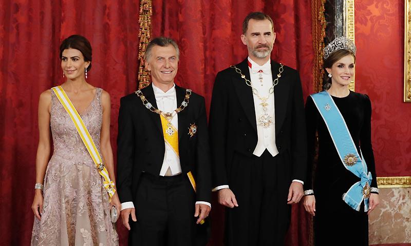 El Palacio Real se viste de gala en honor a Mauricio Macri y Juliana Awada