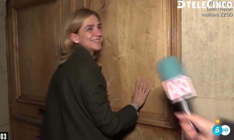 La sonrisa de la infanta Cristina tras saber que su marido Iñaki Urdangarin no ingresará en prisión