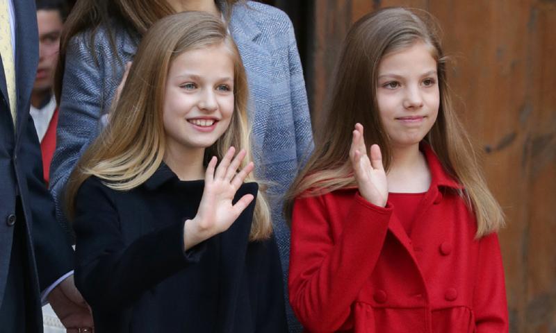 La infanta Sofía alcanza ya en altura a su hermana, la princesa Leonor