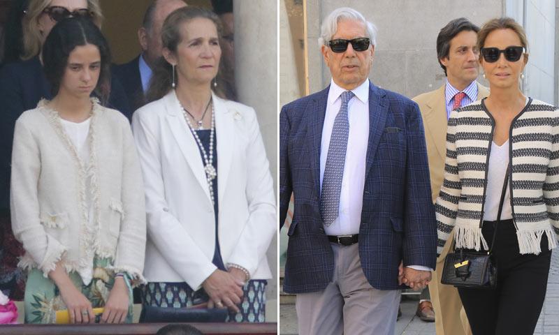 Isabel Preysler con Mario Vargas Llosa, la infanta Elena con su hija... tarde de toros en Sevilla