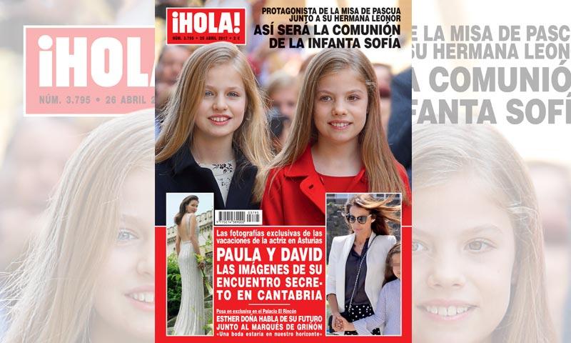 En ¡HOLA!, así será la Comunión de la infanta Sofía