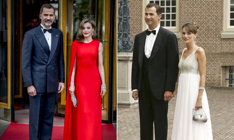 Así ha cambiado el estilo de la reina Letizia en diez años