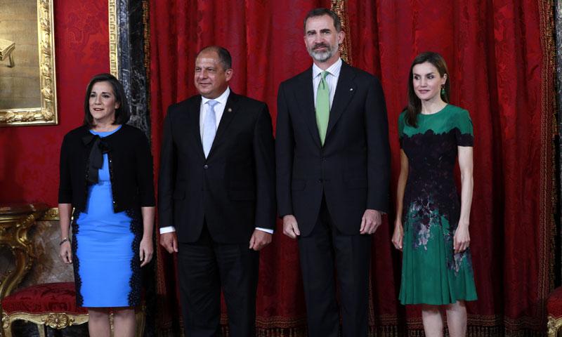 Compenetración total entre Letizia y la primera dama costarricense, la española Mercedes Peñas