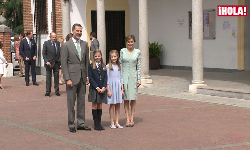 En vídeo: la alegría de la infanta Sofía al llegar con su familia a la parroquia