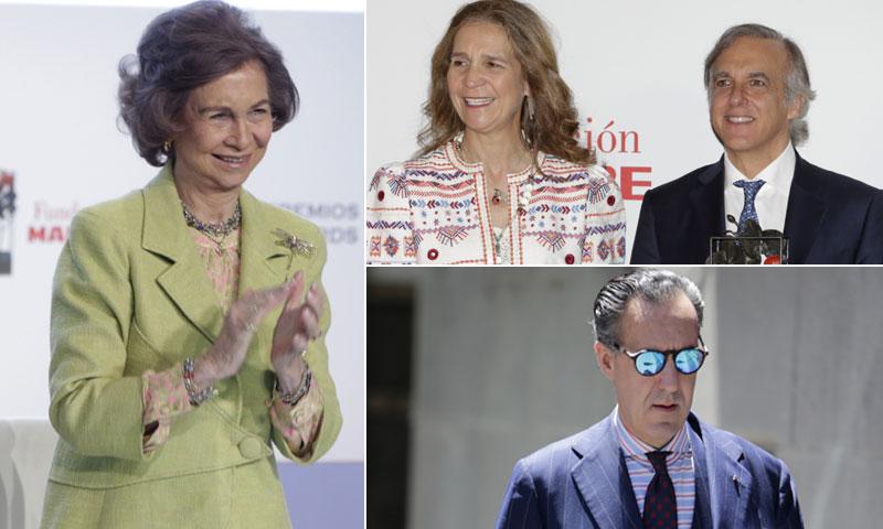 La infanta Elena y Jaime de Marichalar coinciden en los premios Mapfre entregados por la reina Sofía