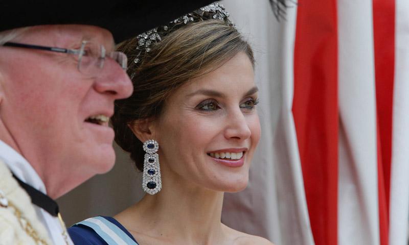 La reina Letizia elige las joyas de la reina Victoria Eugenia para sus citas de gala en el Reino Unido
