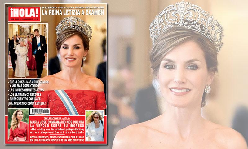 En ¡HOLA! La reina Letizia, a examen: en su histórica visita a la corte británica junto al rey Felipe