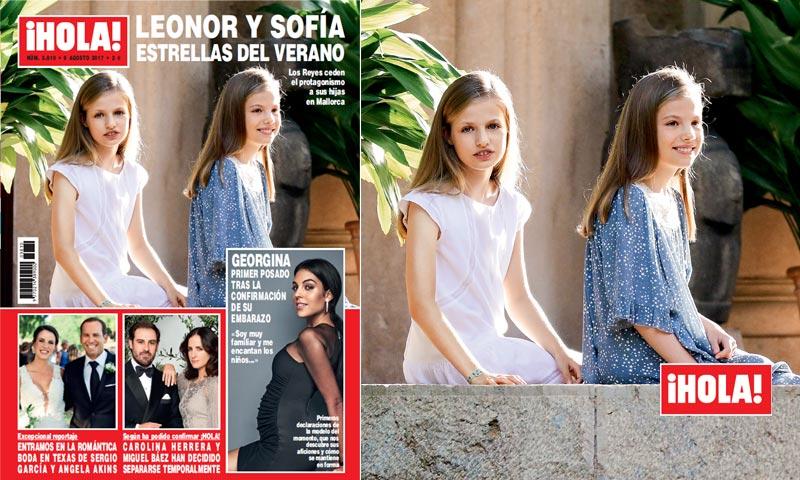 En ¡HOLA!, Leonor y Sofía, como nunca antes las habíamos visto, en su primer posado juntas