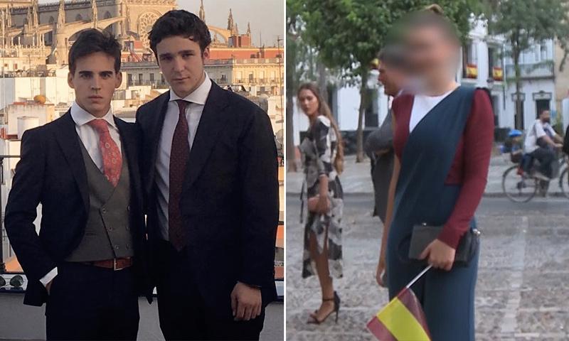 En vídeo: Felipe de Marichalar y Alba, hija de Vicky Martín Berrocal y 'El Cordobés', coinciden en una boda