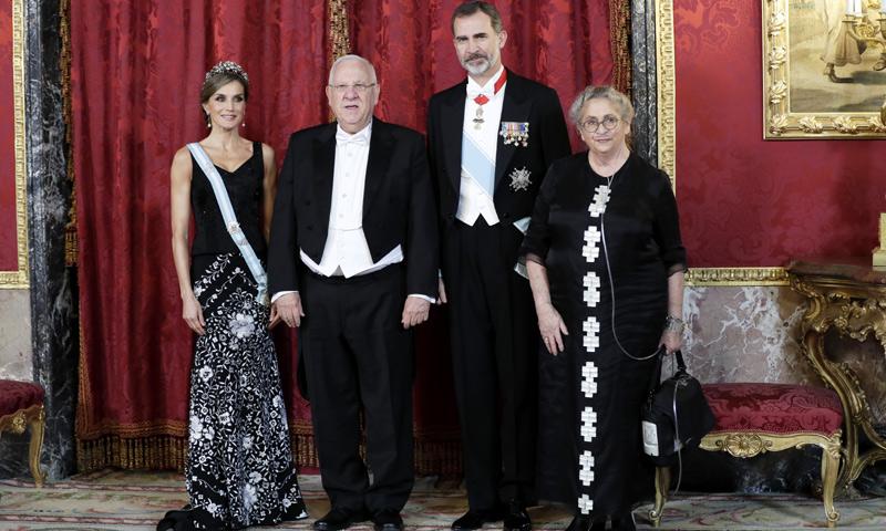 Los Reyes celebran una cena de gala en honor al Presidente de Israel y a su mujer, Nechama Rivlin