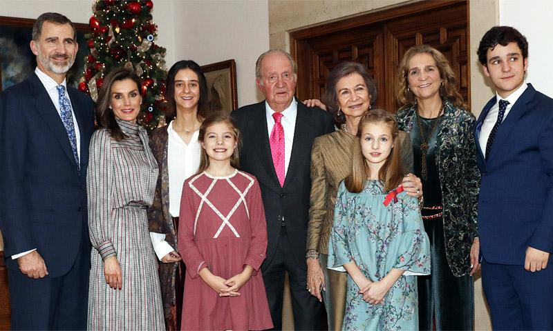 La fotografía familiar que ilustra el 80 cumpleaños del rey Juan Carlos