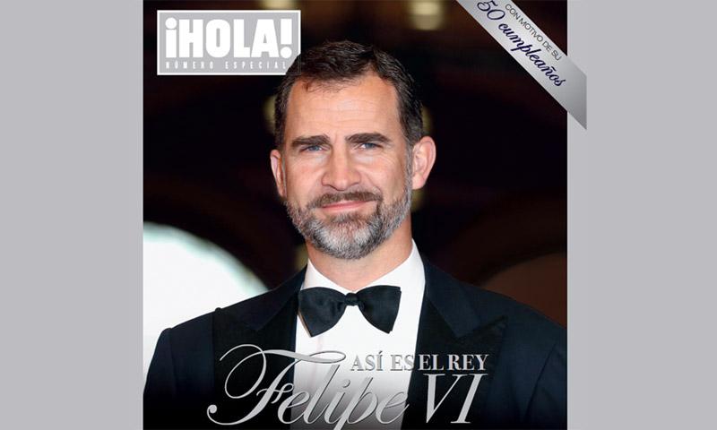 Ya puedes encontrar en tu quiosco el número especial de ¡HOLA! con motivo del 50º cumpleaños del Rey: 'Así es Felipe VI'