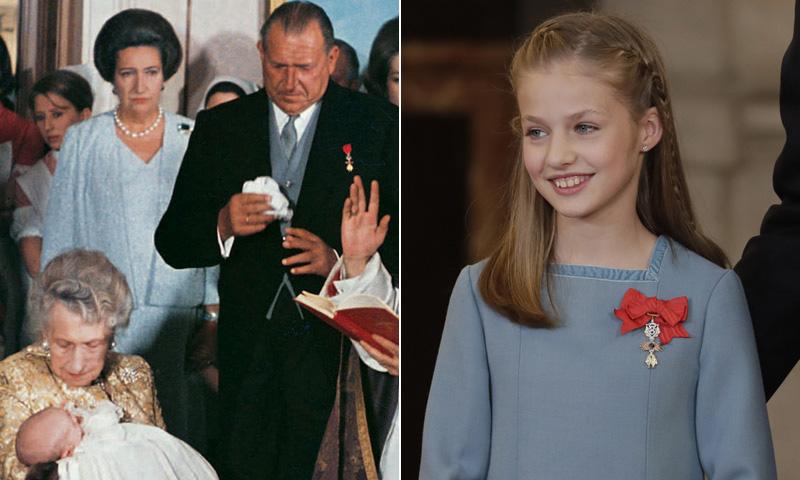 Doble homenaje de Felipe VI: a su hija y a su abuelo