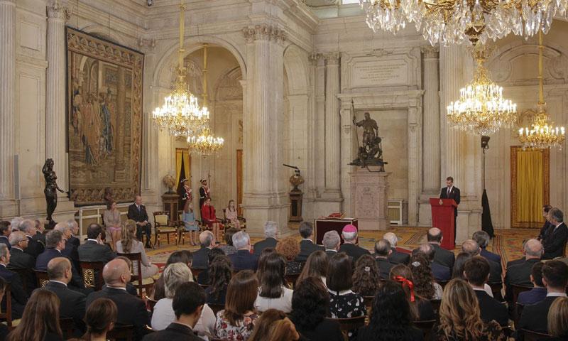 Casi un centenar de invitados, testigos de la imposición del Toisón de Oro a Leonor