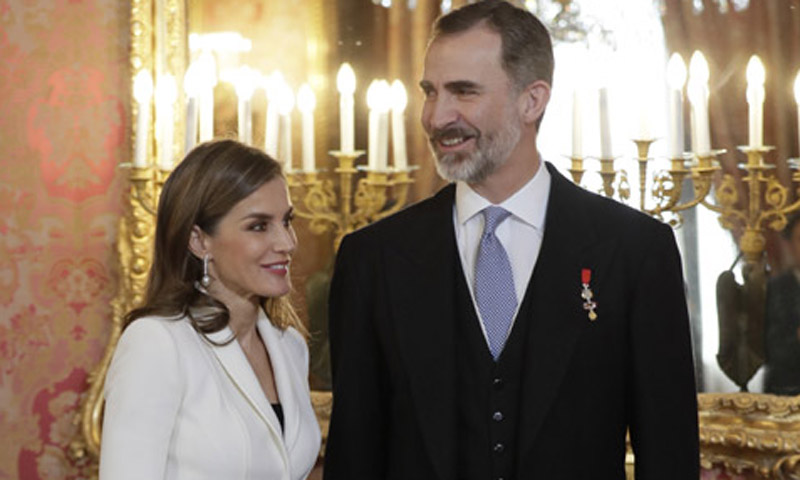 Los Reyes vuelven a abrir las puertas del Palacio Real en la tercera recepción al Cuerpo Diplomático de su reinado
