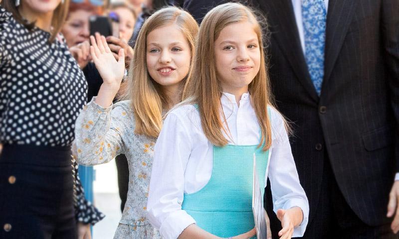 El regalo más original que recibieron la princesa Leonor y la infanta Sofía en la Misa de Pascua