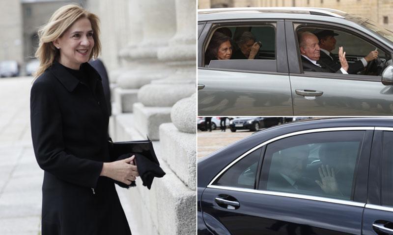 La infanta Cristina asiste a la misa homenaje a don Juan de Borbón presidida por los cuatro Reyes