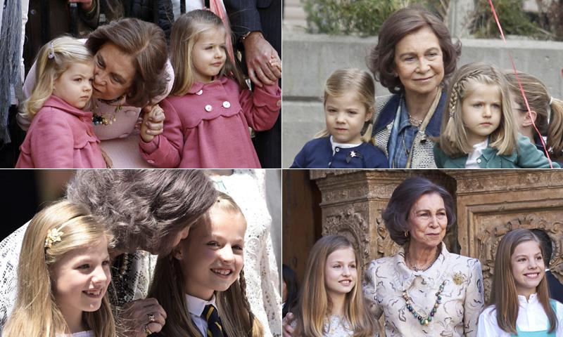 FOTOGALERÍA: Todas las veces que doña Sofía ha posado con sus nietas
