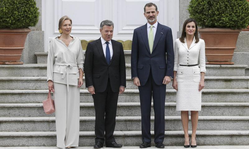 Los Reyes ofrecen un almuerzo al presidente de Colombia y su mujer como cierre a su gira europea