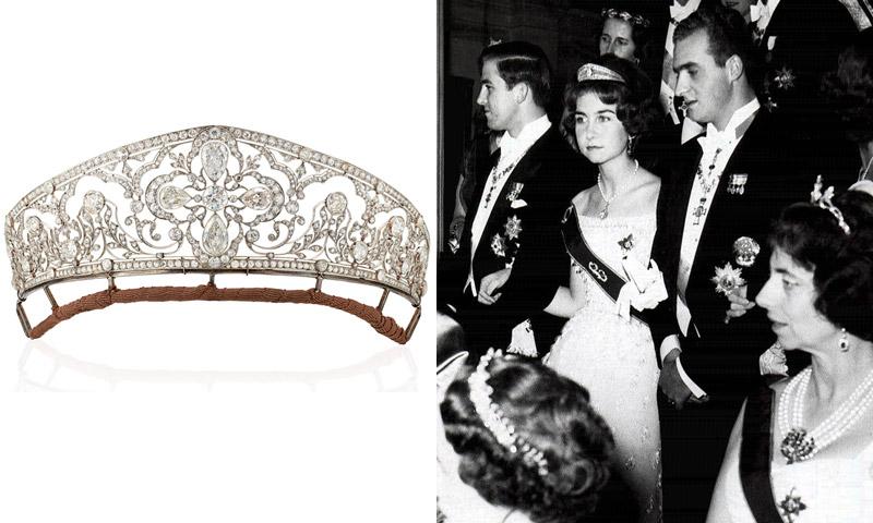 Subastan en Londres una tiara que perteneció a la abuela del rey Juan Carlos