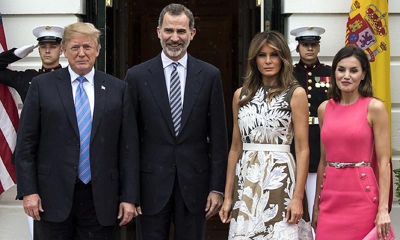 Así ha sido el esperado encuentro de los Reyes con Donald y Melania Trump en la Casa Blanca