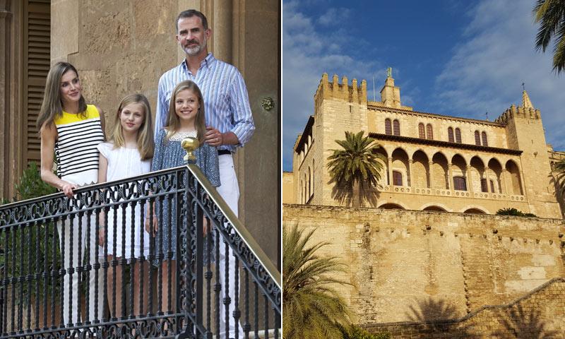 Los Reyes y sus hijas cambian Marivent por La Almudaina para su posado estival