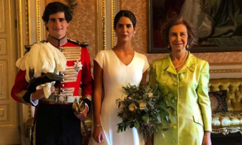La reina Sofía, testigo de excepción del gran día de los Duques de Huéscar
