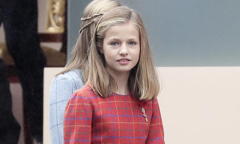 La princesa Leonor luce por primera vez en público la insignia del Toisón de Oro, símbolo de su condición de Heredera de la Corona