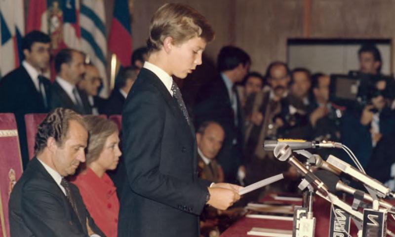 Así fue el primer discurso del rey Felipe a la misma edad de la princesa Leonor