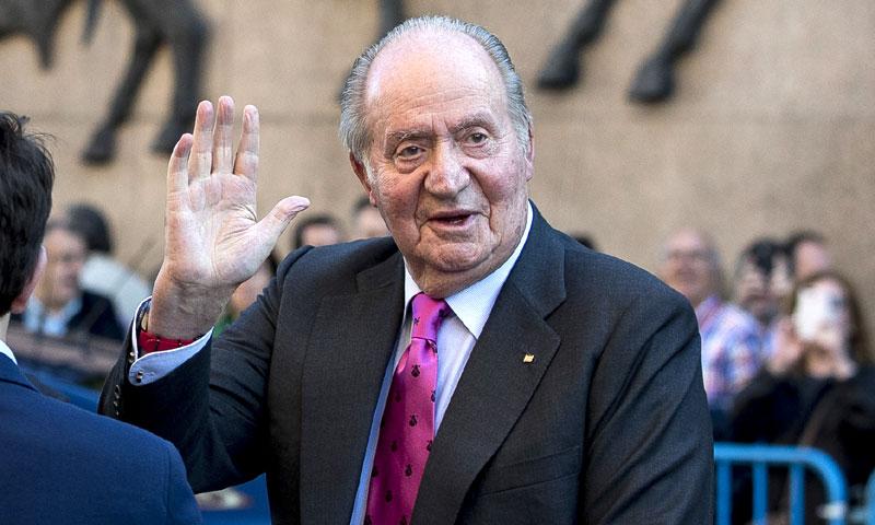 El rey Juan Carlos comenta la intervención de su nieta, la princesa Leonor