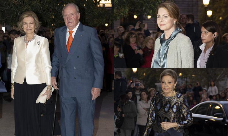 Seis reyes y una emperatriz para festejar la gran noche de doña Sofía