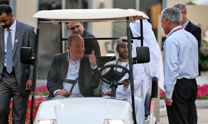 El rey Juan Carlos y la infanta Cristina reaparecen en el Gran Premio de Abu Dhabi