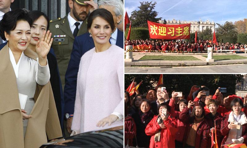 La reina Letizia y Peng Liyuan desatan la locura en el Teatro Real