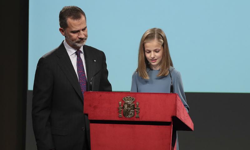 La princesa Leonor se suma a las celebraciones por el 40 aniversario de la Constitución Española