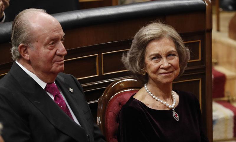 El reconocimiento de Felipe VI a don Juan Carlos y doña Sofía durante su discurso
