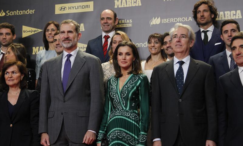 Los Reyes se van de celebración con la élite del deporte español y don Felipe se lleva un premio