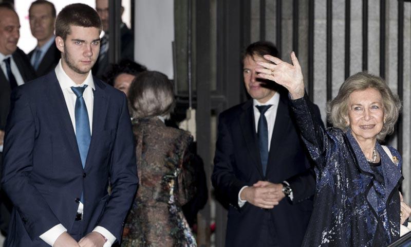 La reina Sofía asiste con su nieto Juan Urdangarin a un original concierto benéfico