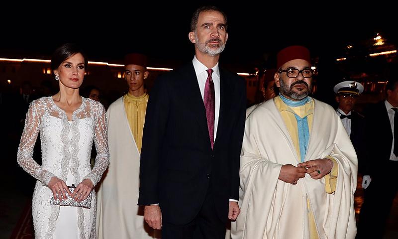 El Palacio de Rabat se viste de gala para recibir a don Felipe y doña Letizia