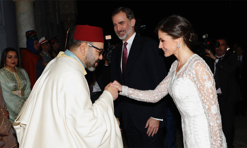 El amable gesto que ha tenido el Rey de Marruecos con Doña Letizia